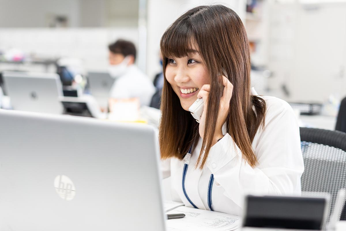 電話での問い合わせが多く、コミュニケーションスキルが問われます!